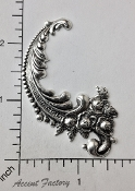 22504 - 12 Pc Victorian Floral Flourish (Left) Silver Ox