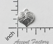 31794 - 12 Pc Leaf Charm Jewelry Finding Matte Silver Ox