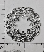 24814- 12 Pc Victorian Round Filigree Jewelry Finding Silver Ox