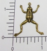 48853 - 12 Pc Small Frog Jewelry Finding Brass Ox