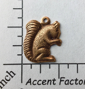 43625 - 12 Pc Small Squirrel Charm Jewelry Finding Copper Ox